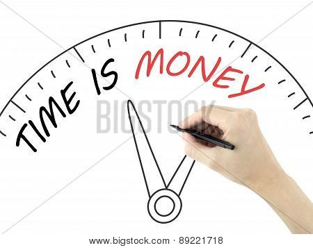 Time Is Money Written By Man's Hand