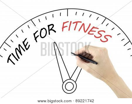 Time For Fitness Written By Man's Hand