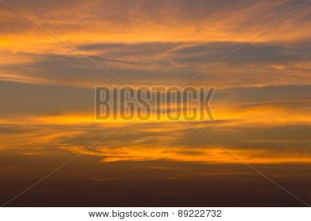 Dramatic Sky With Cloud In Evening,
