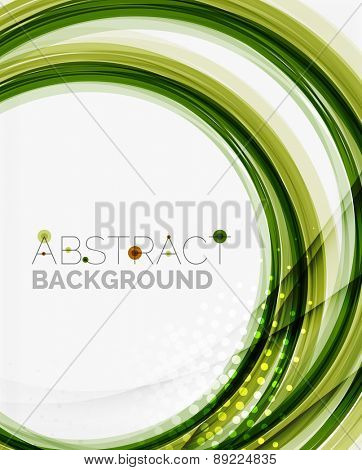 Green eco nature wave background, ground or grass concept