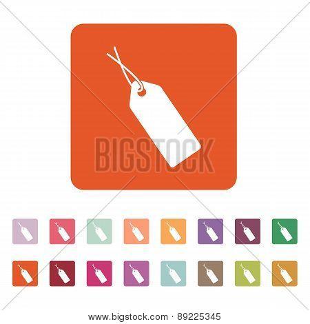 The Price Tag Icon. Sale Symbol. Flat
