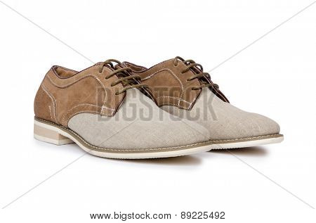 Male shoes isolated on white background
