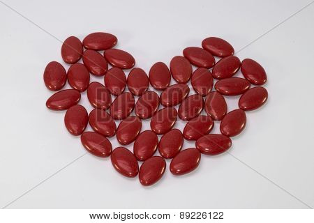 Heart Of Red Candies