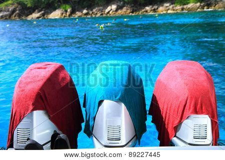 Motor of speed boat
