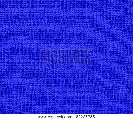 Bluebonnet color burlap texture background