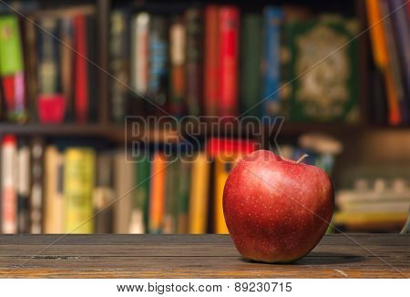 Apple In A Library