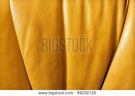 Background Textured Leather Rich Orange
