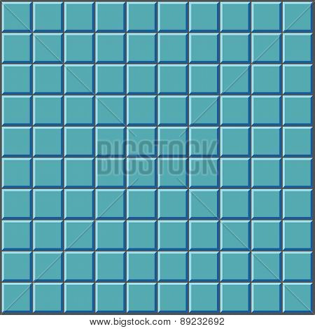 Stylized Wall With Blue Tiles Pattern