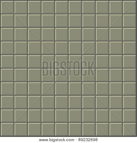 Tiles Pattern Stylized Wall In Olive Green Gray