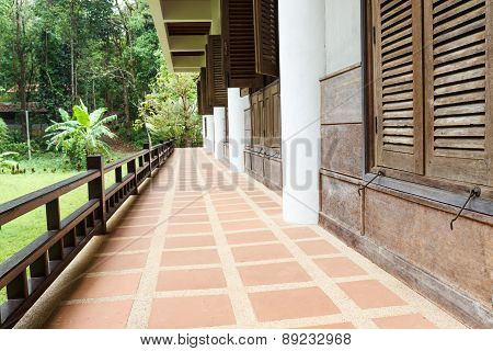The Balcony With The Garden View