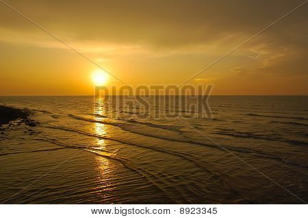 Summer Sunset at sea side