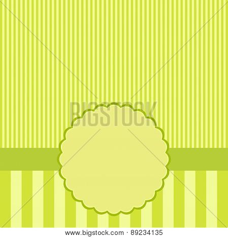 Green Template Of Greeting Card.