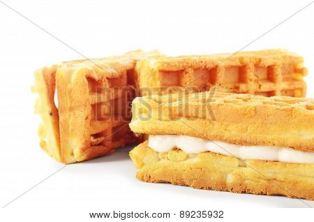 Pile Of Sweet Viennese Wafers