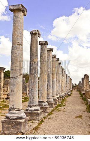 Historic Roman site of Perge in Turkey.