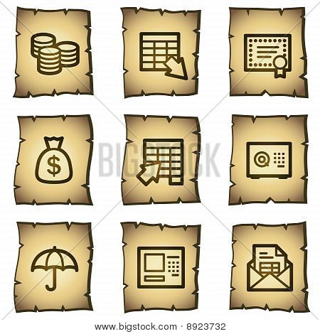 Banking Web Icons, Papyrus Series