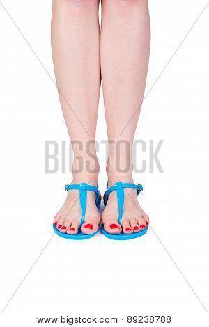 Woman Wearing Flip Flop