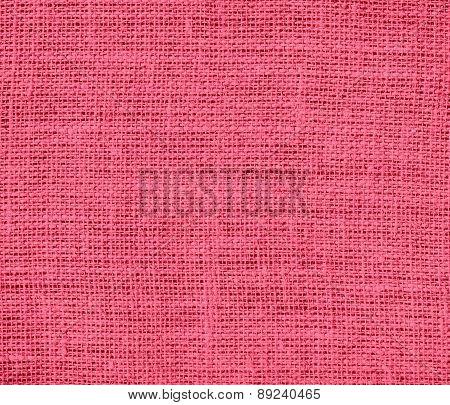 Brink pink color burlap texture background