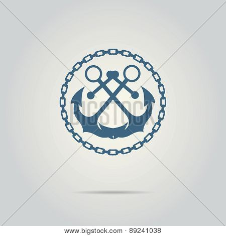 anchor silhouette isolated vector logo