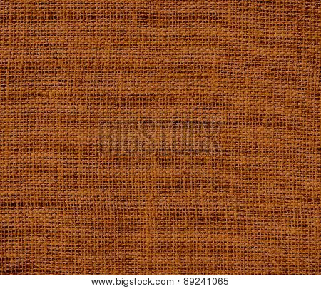 Brown (traditional) color burlap texture background