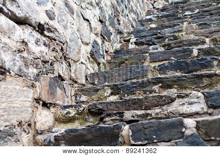 Old Fortress Stone Staircase