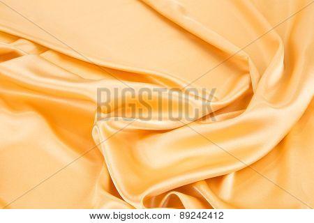 Yellow cloth texture close up.