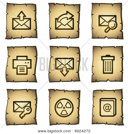 E-mail Web Icons Papyrus Series
