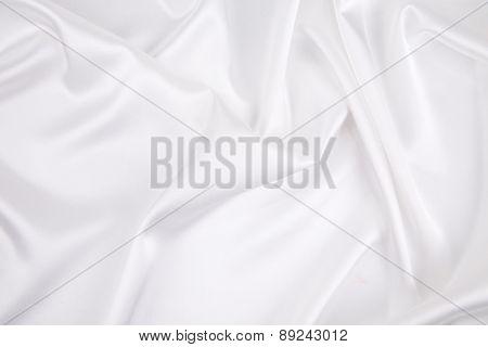 White silk texture close up.