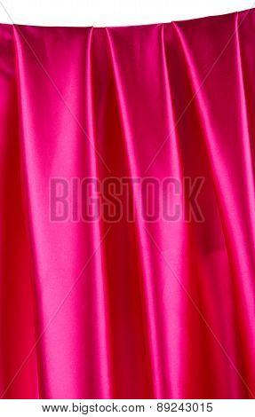 Pink silk background.