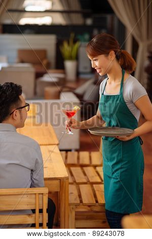 Serving a guest