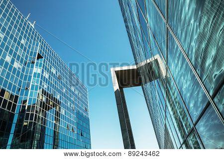 Modern Building On A Sky Background