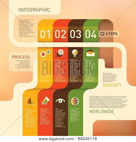 Colorful info graphic design. Vector illustration.