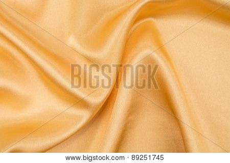 Close up of yellow silk.