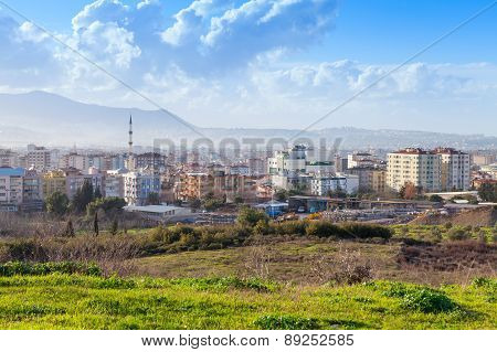 Cityscape With Modern Buildings. Izmir City, Turkey