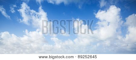 Blue Sky And White Clouds, Panoramic Background
