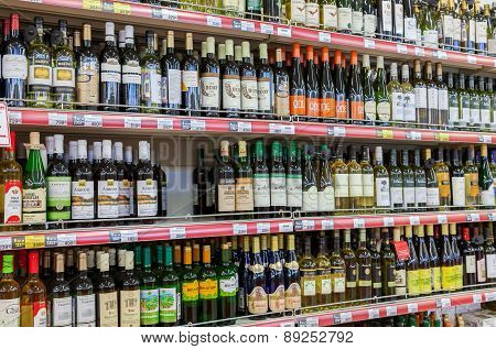 Showcase Alcoholic Beverages At The Hypermarket Magnet