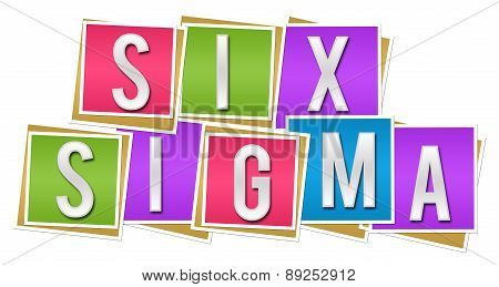 Six Sigma Colorful Blocks