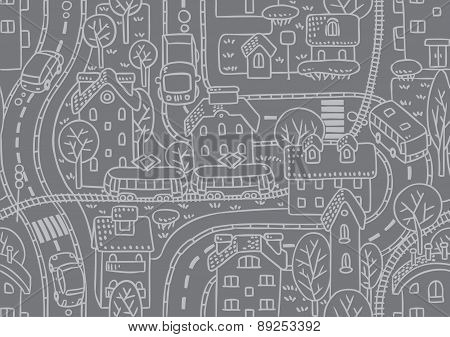 Road seamless pattern.