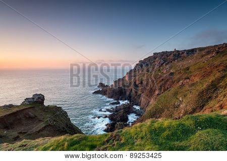 Cornish Tin Mines At Botallack