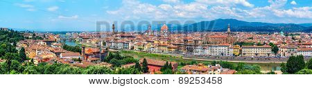 Aerial Panoramic View Of Florence, Italy