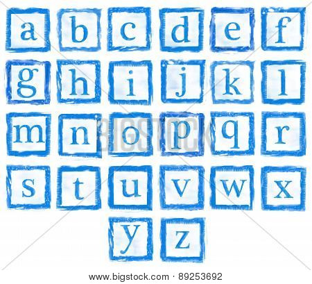 Alphabet Metal Stamp Small Letters