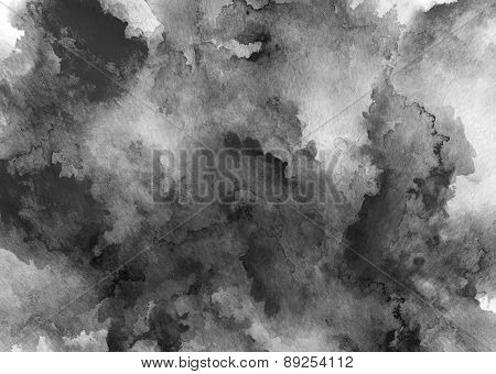 Ink Black Watercolor Full Background
