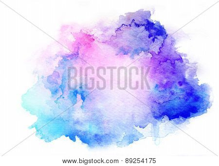 Ink Blue Watercolor Background