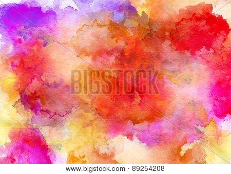 Ink Orange Watercolor Full Background