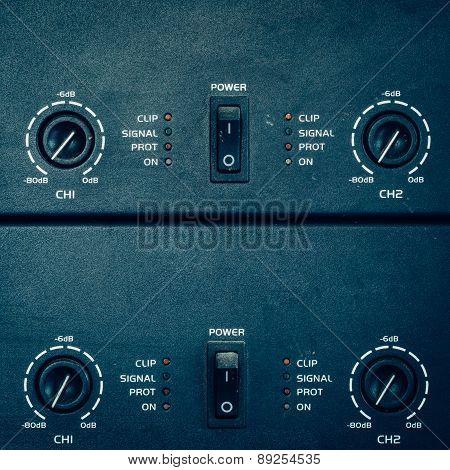 Switch Power Amplifier In Studio.