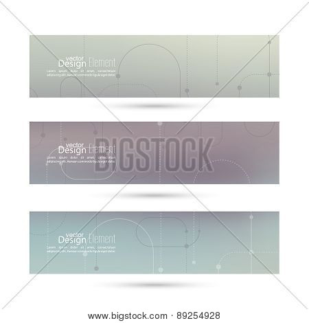 Vector banner with blurred abstract background