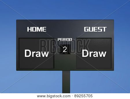 Draw Draw Scoreboard