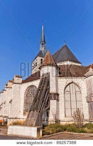 Holy Cross Church (1154) In Provins, France. Unesco Site