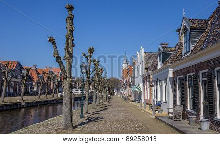 Trees Along The Central Canal In Historical Sloten