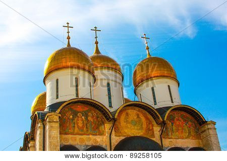 The Moscow Kremlin.the Golden Dome.