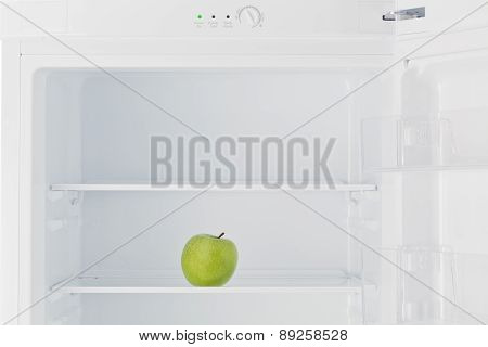 Green Apple In Fridge